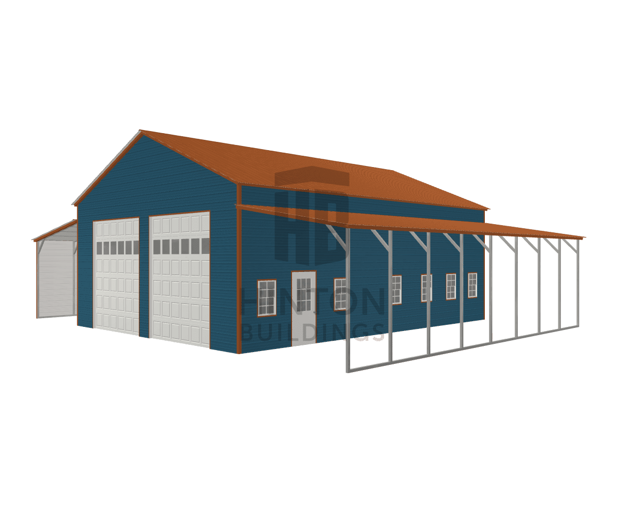 Jenny from Louisburg, NC designed this 30,12,12x40,40,40x14,10,10 building with our 3D Building Designer.