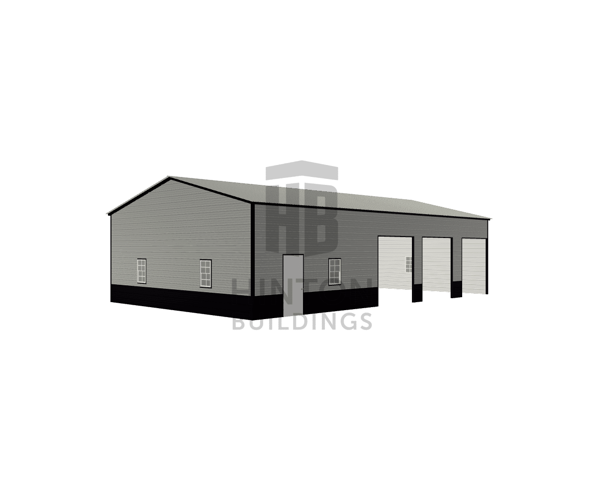 Kayla from Fuquay-Varina, NC designed this 30x50x12 building with our 3D Building Designer.