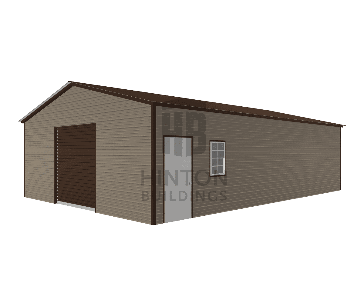 Mary from Clayton, NC designed this 24x35x9 building with our 3D Building Designer.