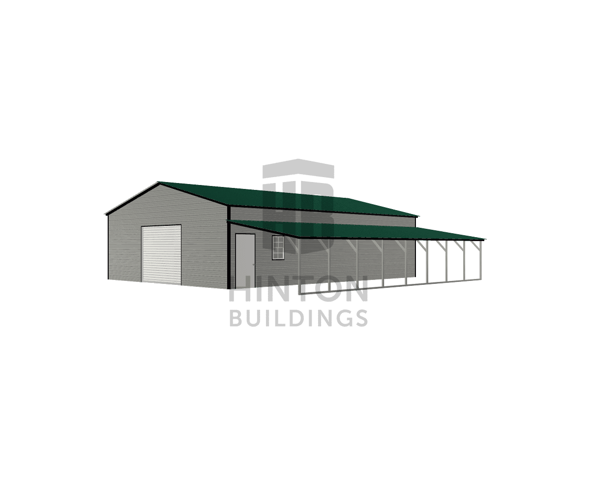 MATT from Hubert, NC designed this 30,12x40,40x10,6 building with our 3D Building Designer.