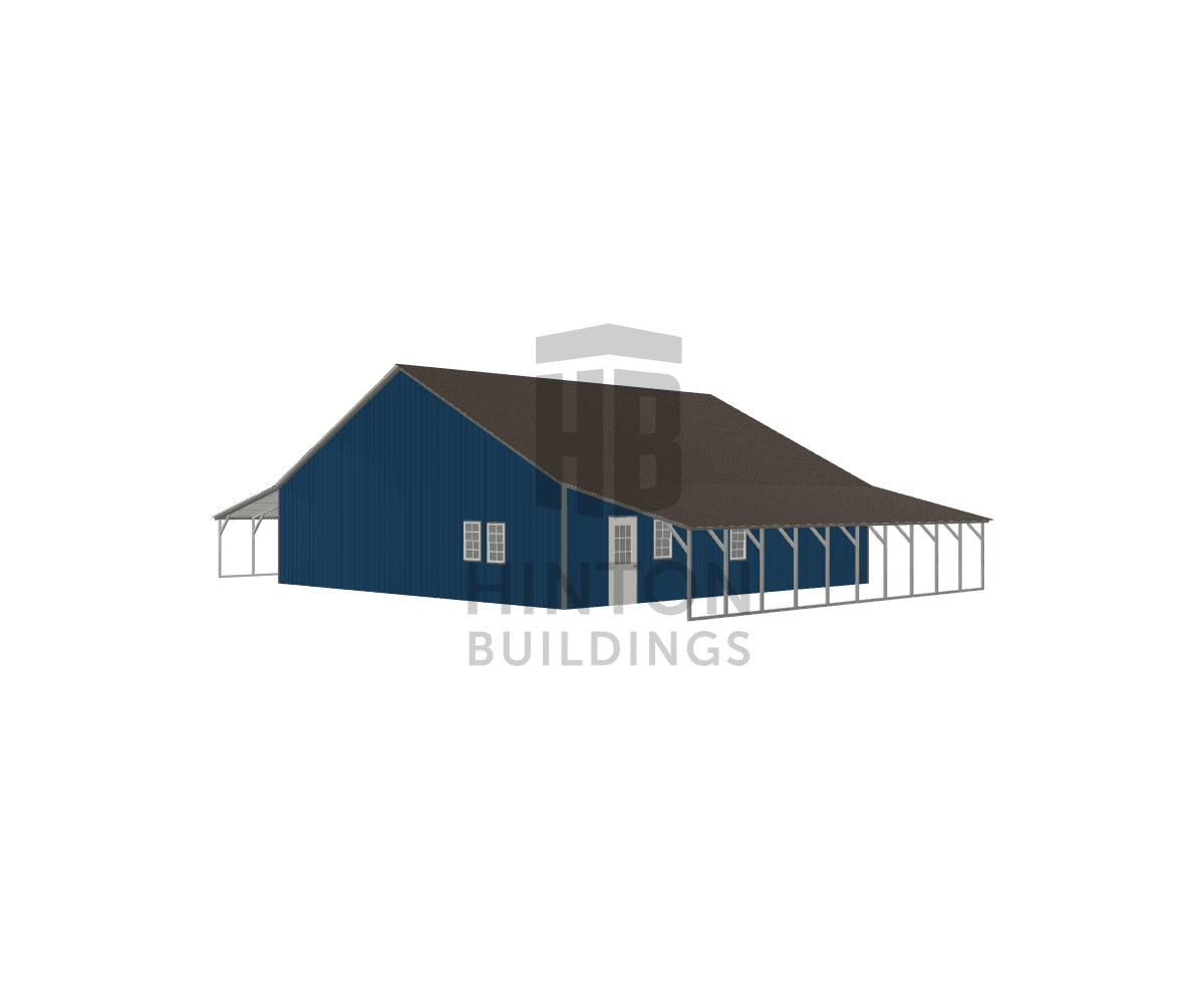 Michael from Wake Forest, NC designed this 40,12,12x40,40,40x9,6,6 building with our 3D Building Designer.
