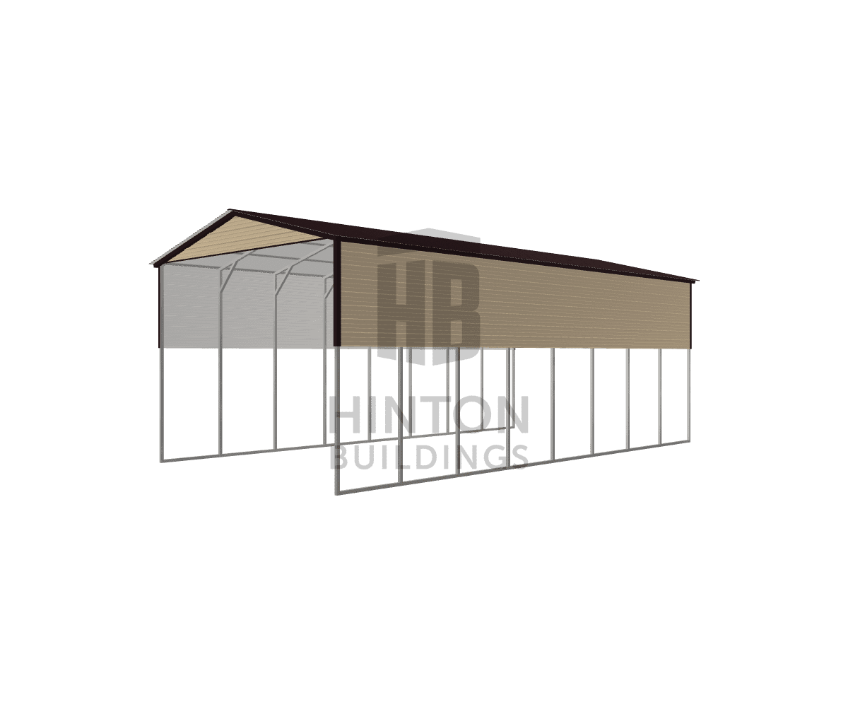 james from coats, NC designed this 20x40x14 building with our 3D Building Designer.