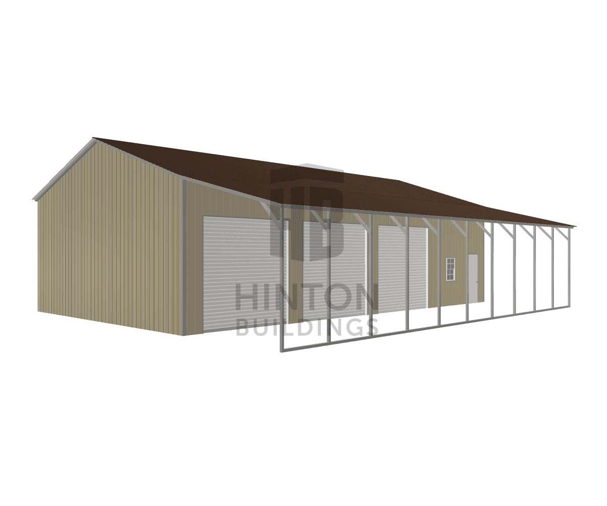 Michele from Newport, NC designed this 30,12x50,50x13,10 building with our 3D Building Designer.