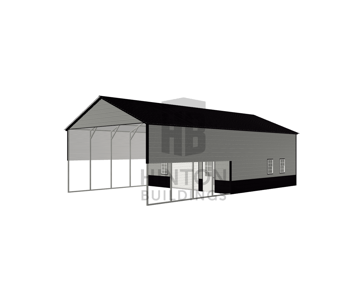 Velicia from Willard, NC designed this 24x45x12 building with our 3D Building Designer.