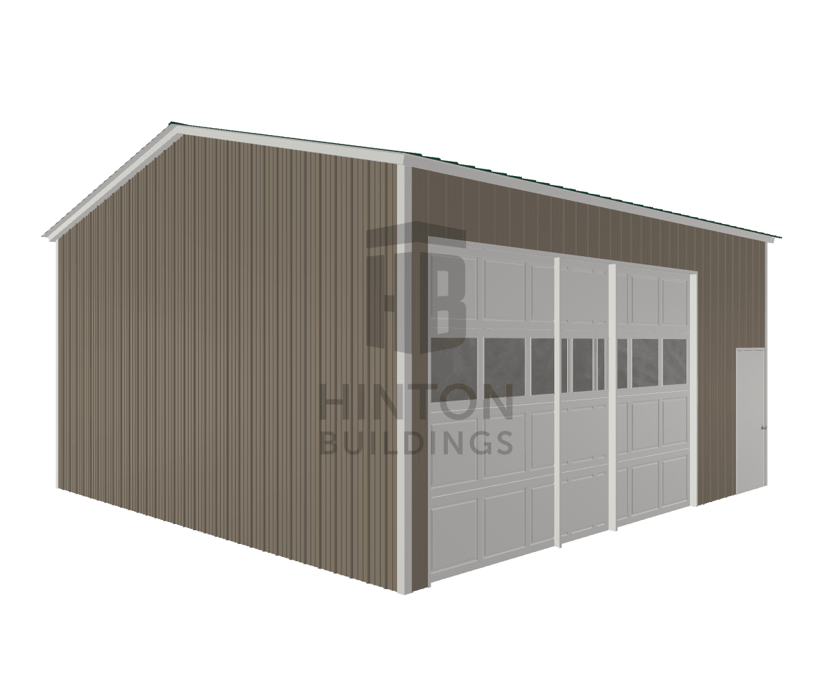 Stacy from Walnut Grove , MS designed this 24x25x12 building with our 3D Building Designer.
