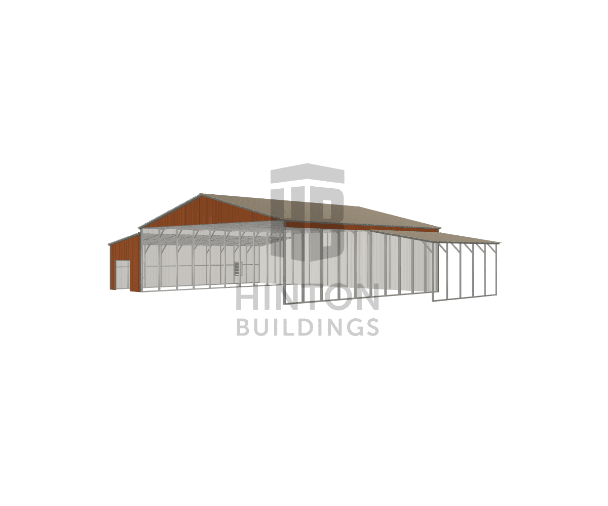 Paul and Linda from Lillington, NC designed this 40,12,12x40,40,20x12,9,9 building with our 3D Building Designer.