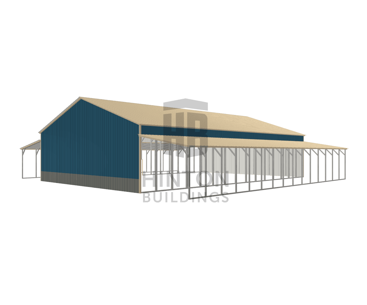 Kim from Wilson, NC designed this 40,12,12x60,60,60x12,8,8 building with our 3D Building Designer.