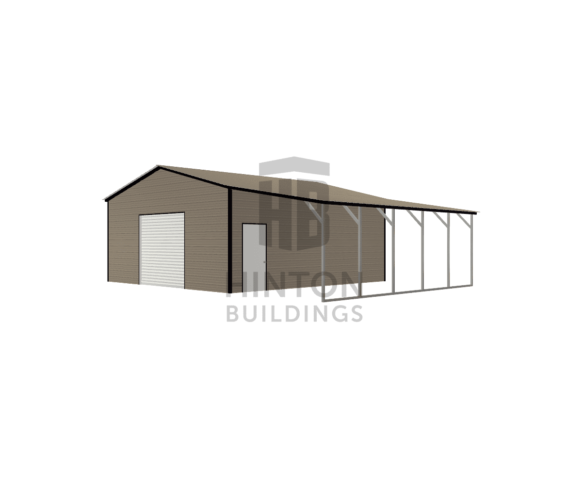 JERRY from KINSTON , NC designed this 24,12x25,25x10,8 building with our 3D Building Designer.