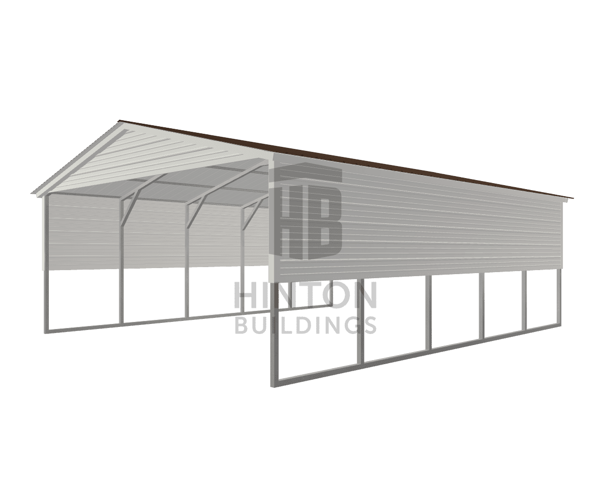 Elizabeth from Clayton, NC designed this 20x25x8 building with our 3D Building Designer.