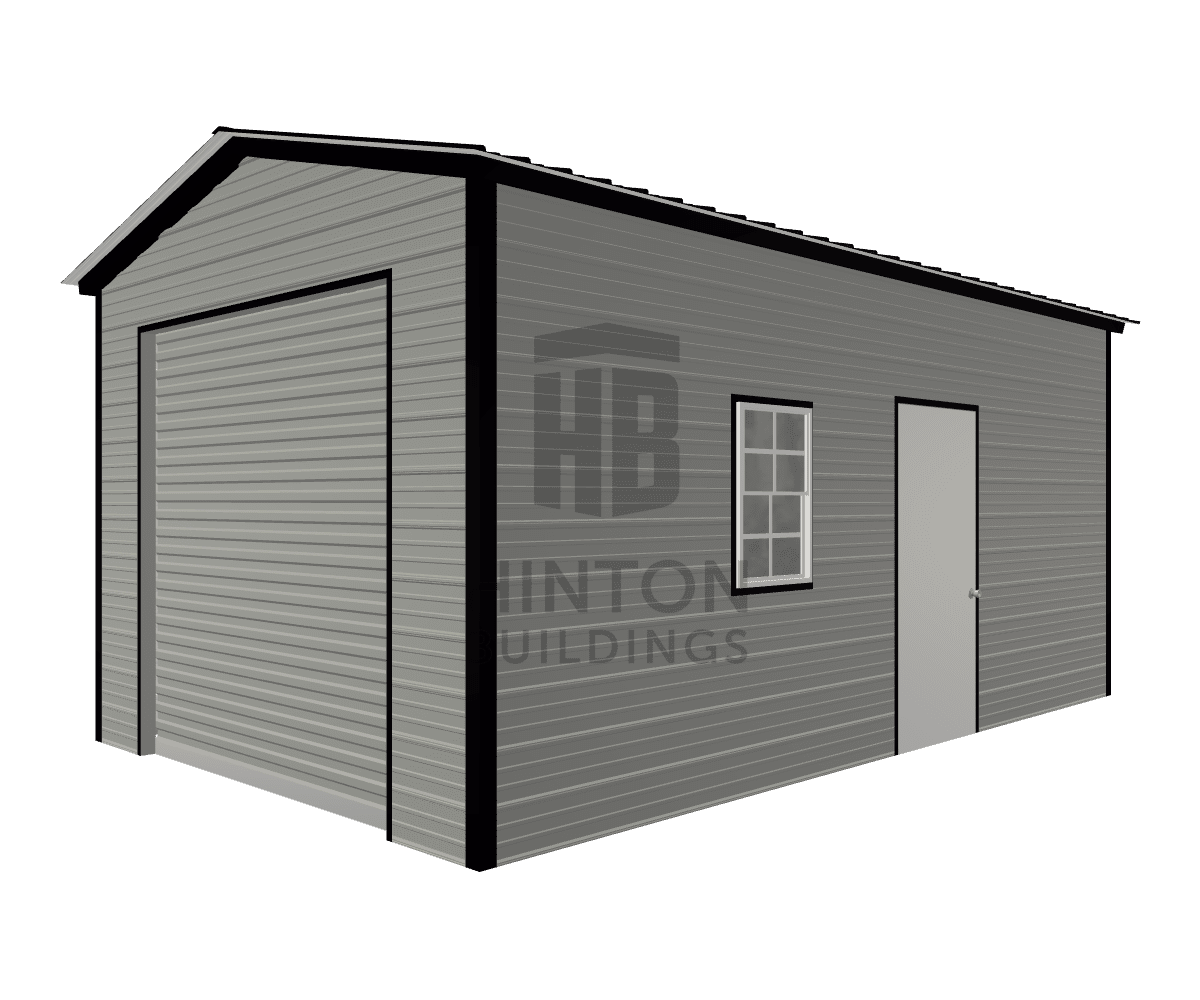 Jeremy from Youngsville, NC designed this 12x20x9 building with our 3D Building Designer.