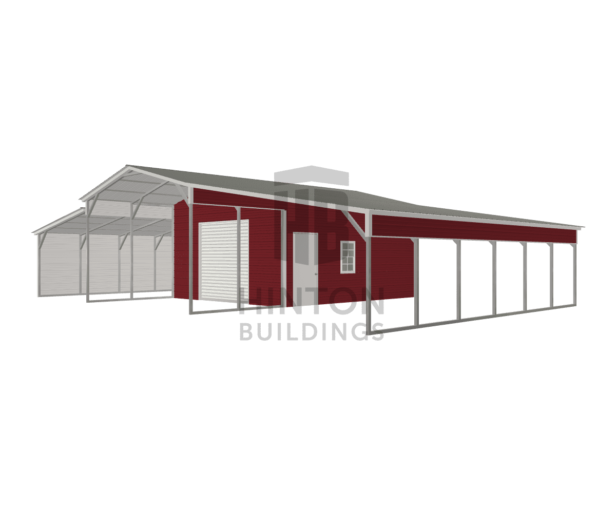 Christopher from Spring hope, NC designed this 18,12,18x30,30,30x10,7,7 building with our 3D Building Designer.