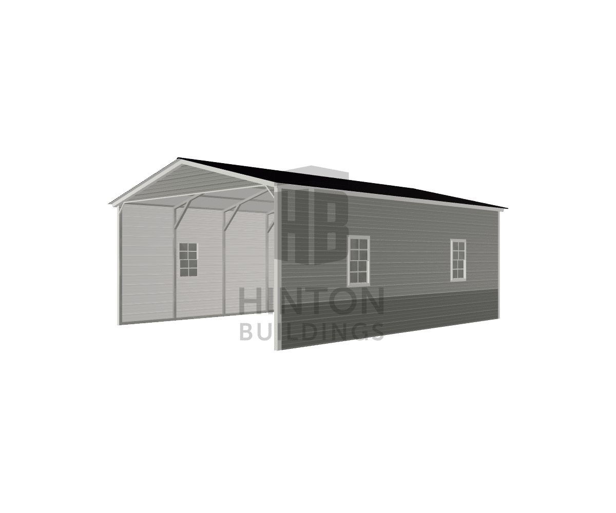 John from newport, NC designed this 18x25x9 building with our 3D Building Designer.