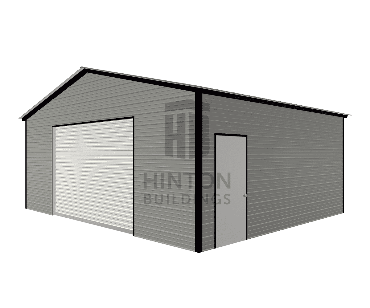 Christopher from Goldsboro, NC designed this 24x20x9 building with our 3D Building Designer.
