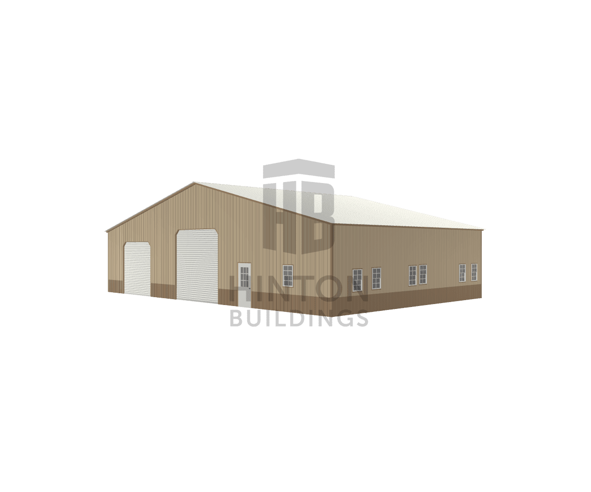 Matthew from Hopkinton, MA designed this 60x40x12 building with our 3D Building Designer.