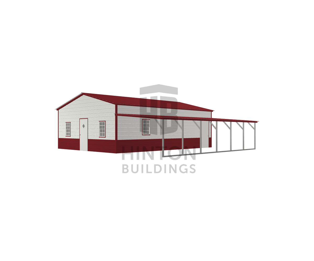 Michael from Benson, NC designed this 22,12x30,30x9,6 building with our 3D Building Designer.