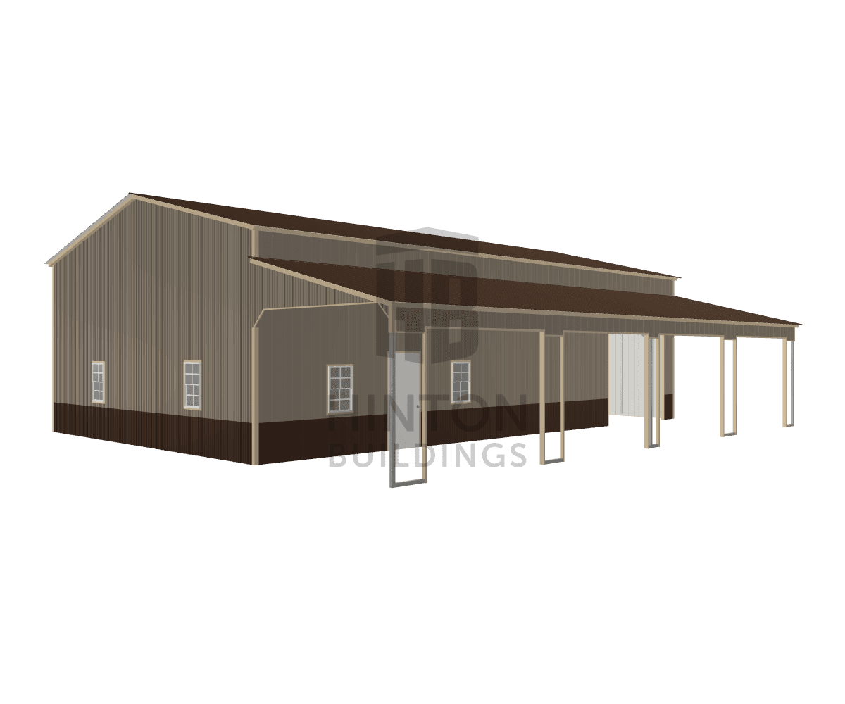 Ronnie from Lacrosse , VA designed this 30,12x50,50x14,9 building with our 3D Building Designer.