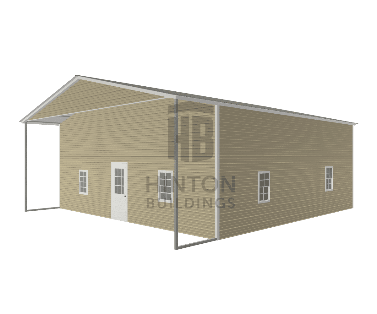Weston from Benson, NC designed this 30x35x12 building with our 3D Building Designer.