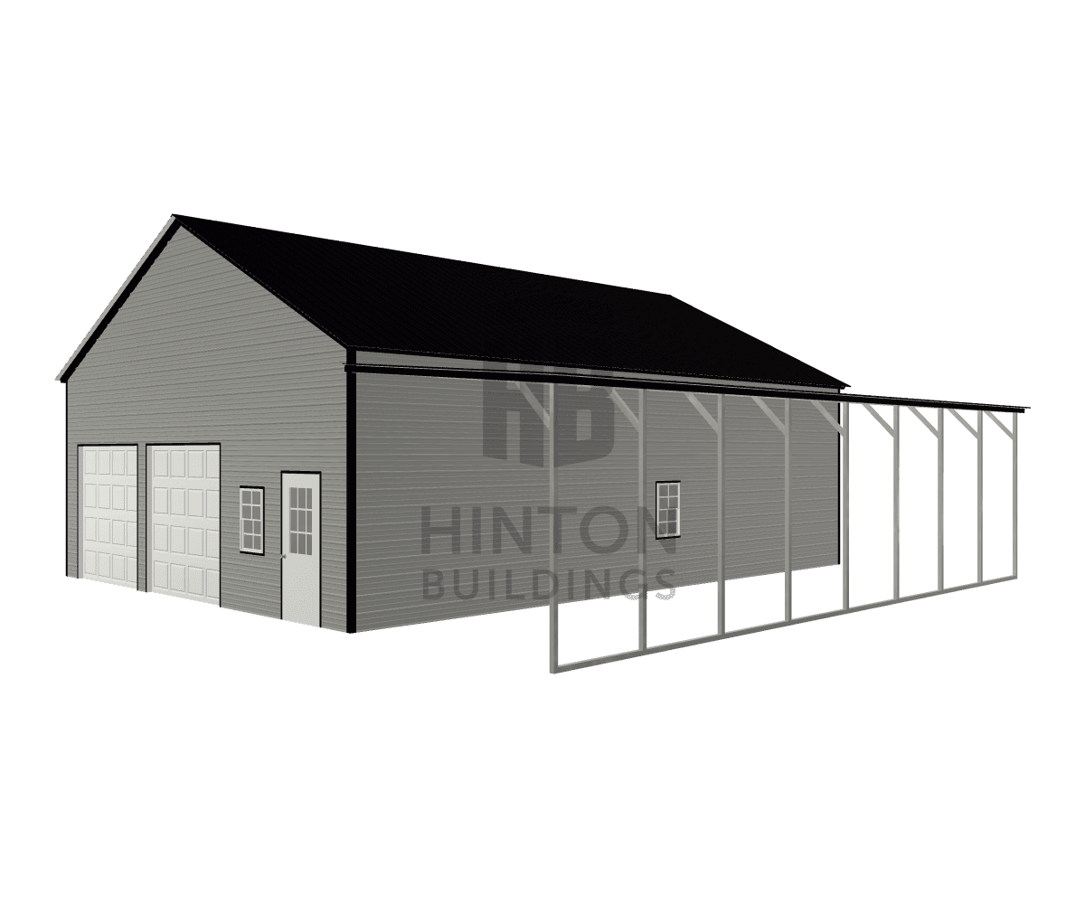 Justin from Clayton, NC designed this 30,12x40,40x12,10 building with our 3D Building Designer.