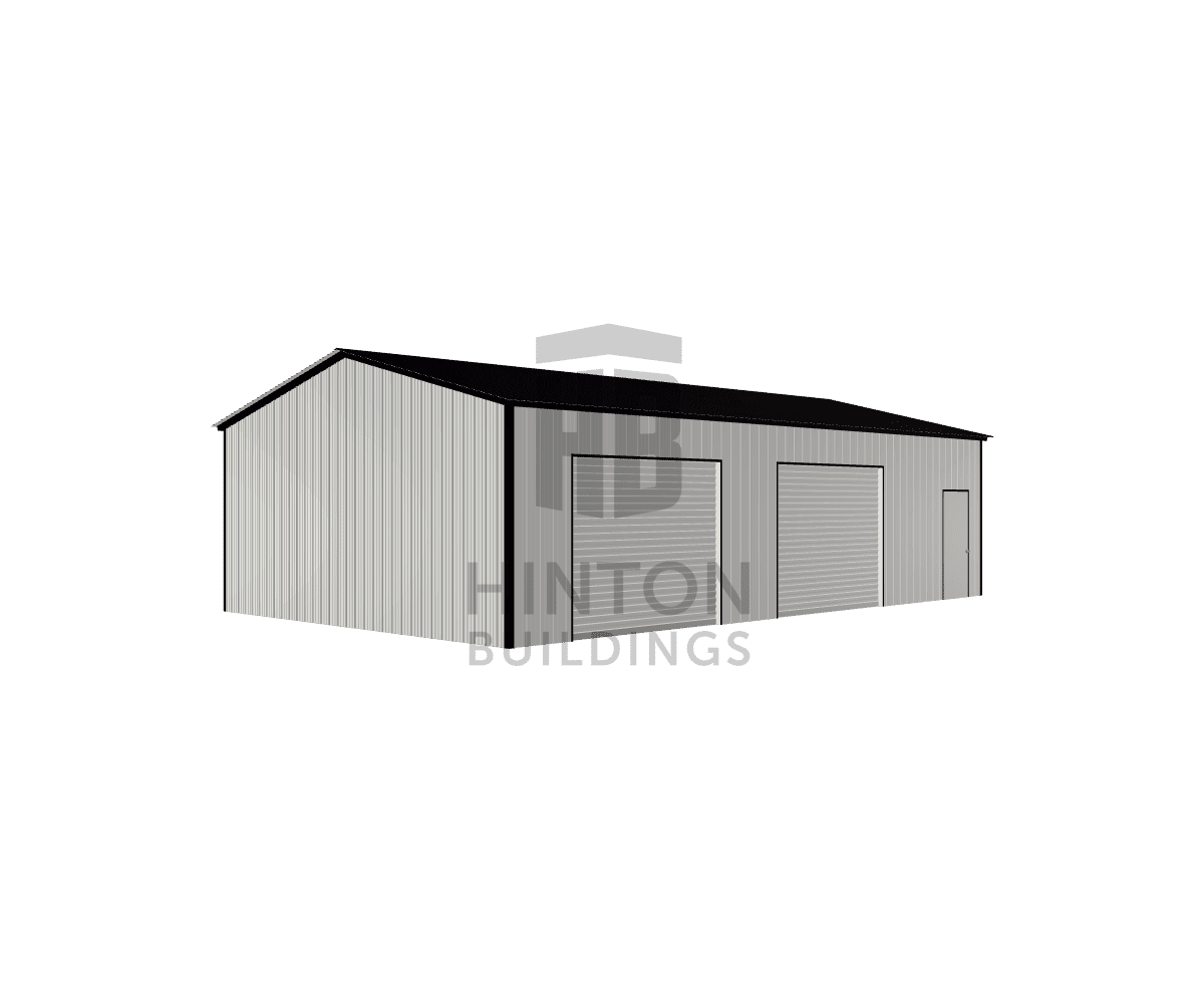 DUSTIN from Kenly, NC designed this 24x40x10 building with our 3D Building Designer.