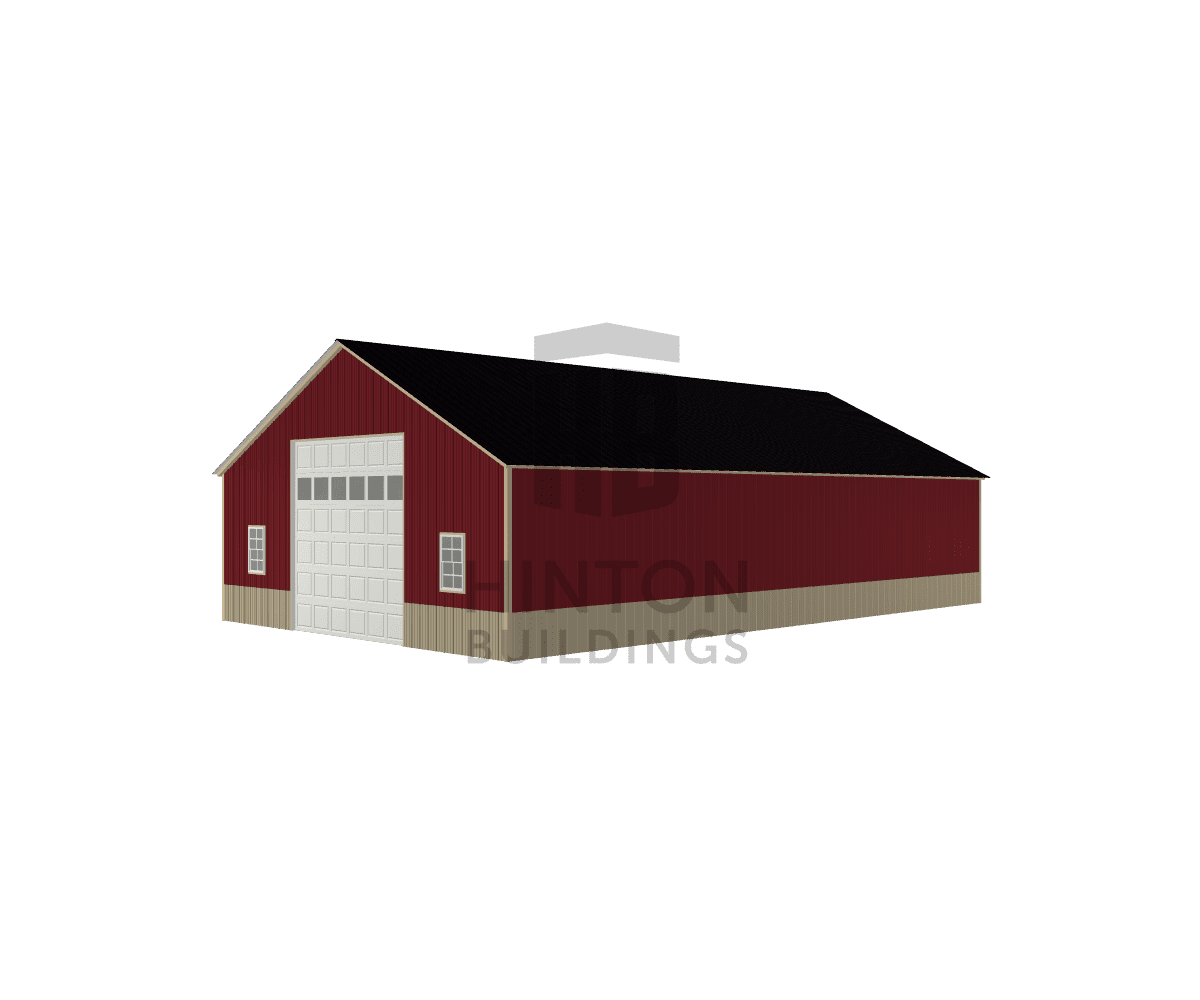 Eric from goldsboro, NC designed this 30x50x10 building with our 3D Building Designer.