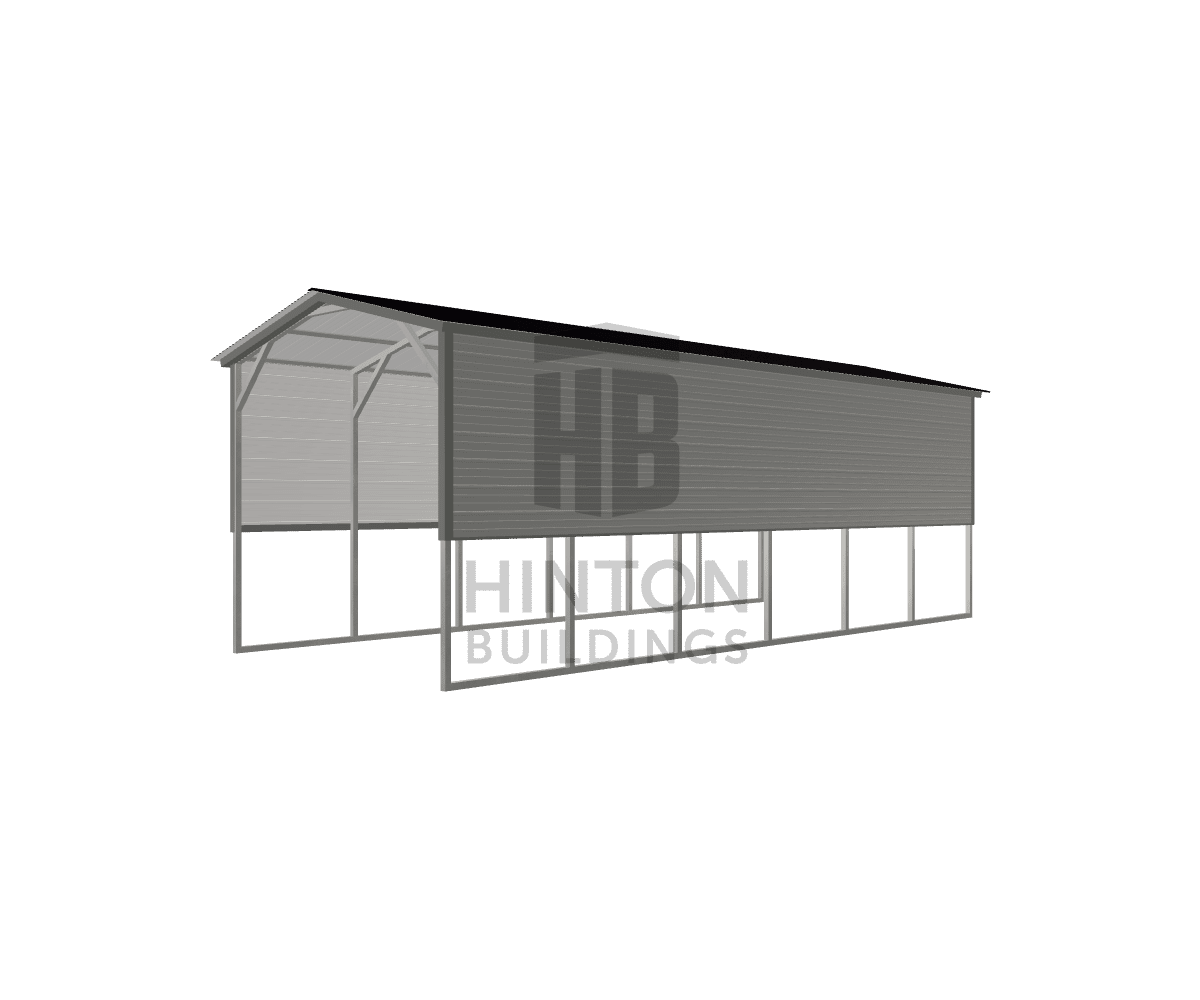 Quint from Clayton, NC designed this 12x30x10 building with our 3D Building Designer.