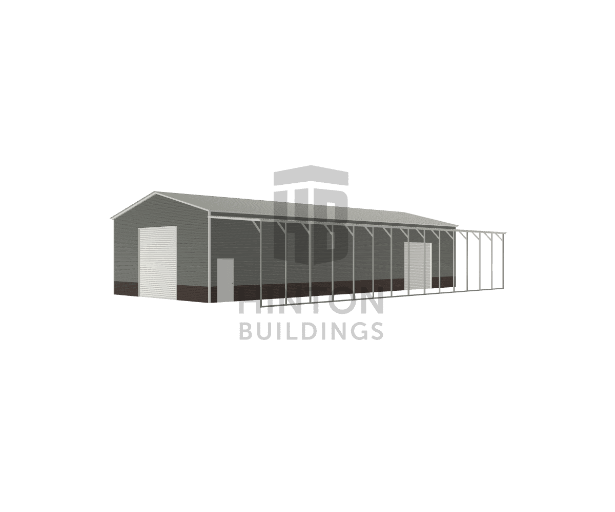 Dustin from Goldsboro, NC designed this 30,12x70,70x14,12 building with our 3D Building Designer.