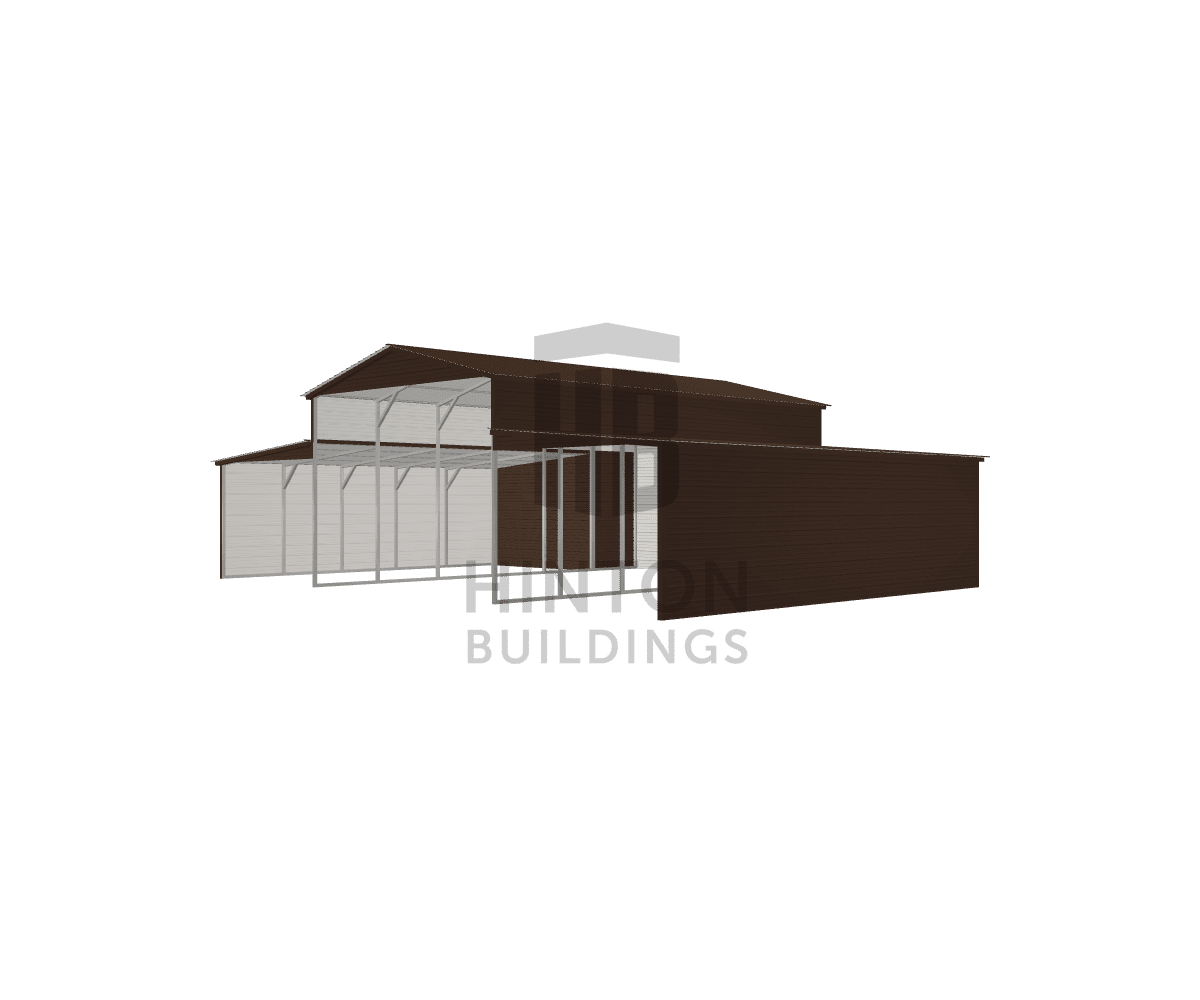 Phil from Henderson, NC designed this 18,12,12x30,30,30x12,8,8 building with our 3D Building Designer.