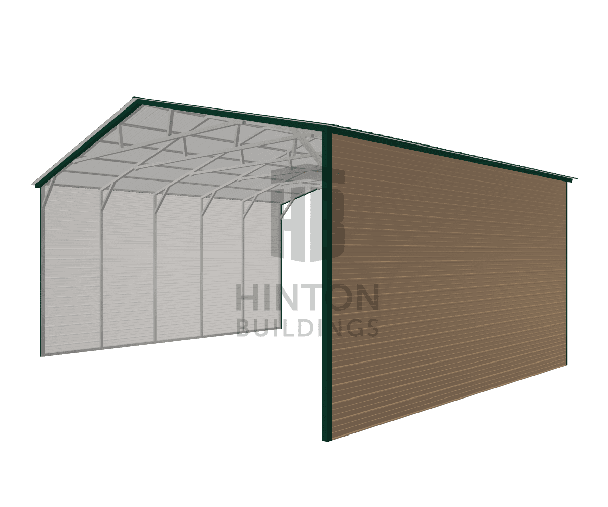 Jason from Clayton, NC designed this 30x25x13 building with our 3D Building Designer.